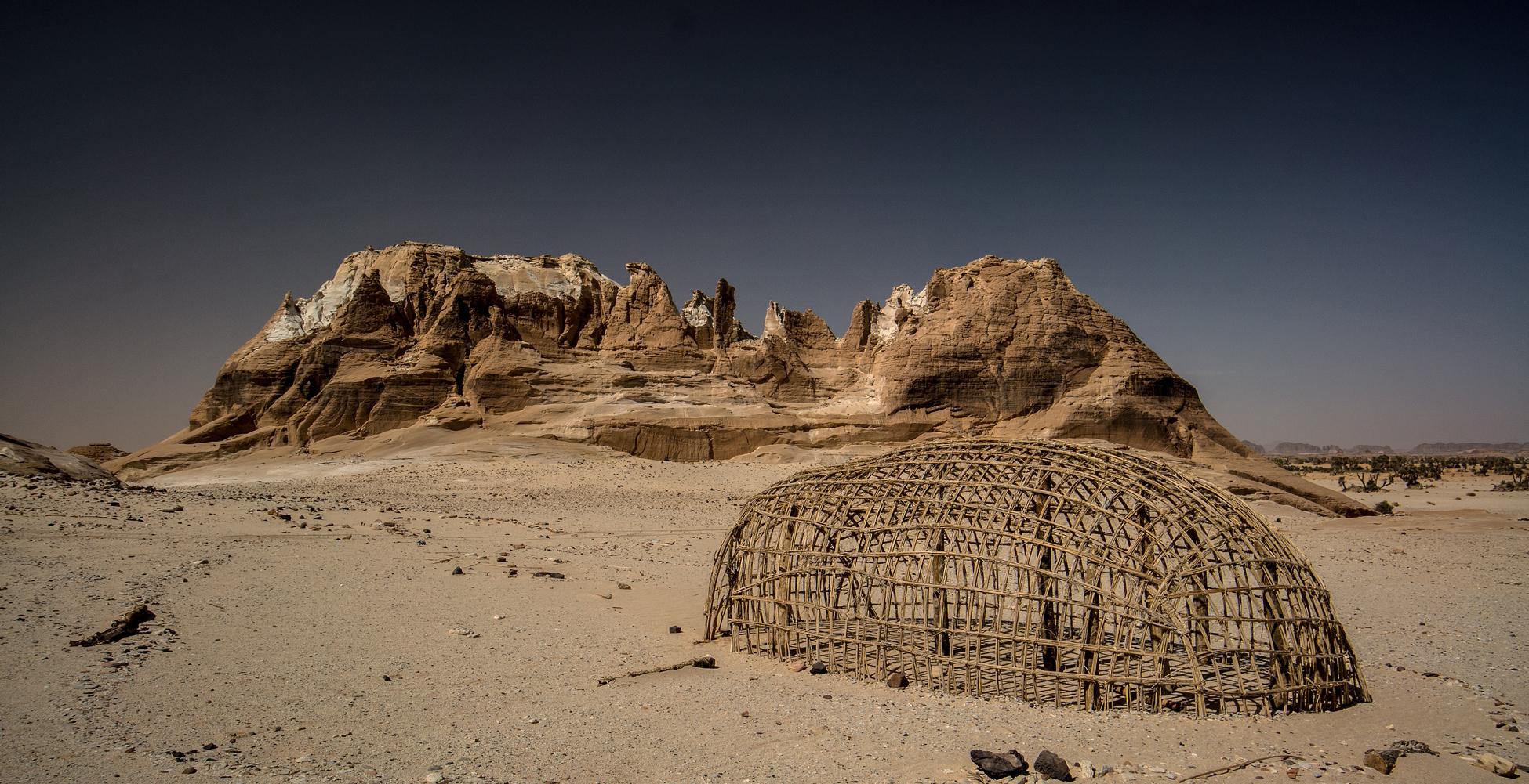 Borkou, villaggio di Ani, struttura di una capanna