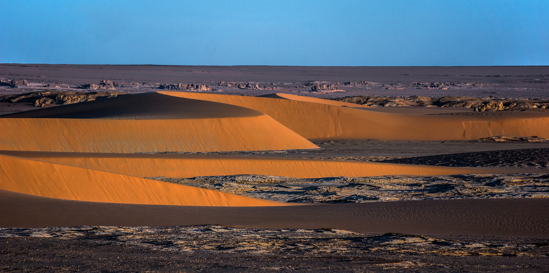 Borkou, ai bordi settentrionali del paleo-lago Tchad, dune dell'Erg di Djourab