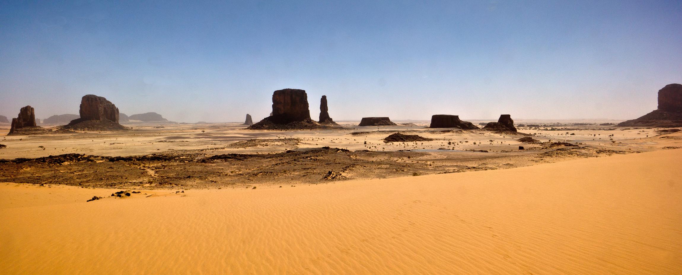 Confini tra Borkou e Ennedi, la Monument Valley
